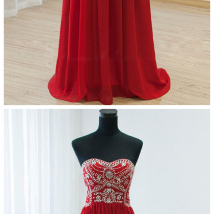 Empire Waist Red Backless Sexy Long..