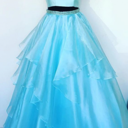 Charming Two Piece Long Prom Dress ..