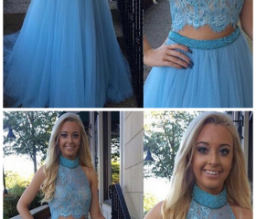 Blue prom Dress,two ..