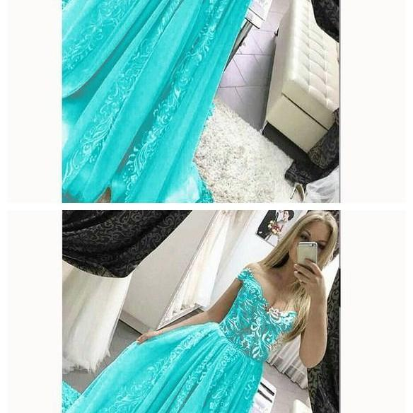 Gorgeous off the Shoulder Lace Prom dresses 2019 Girls Pageant Gown Formal Long Gown