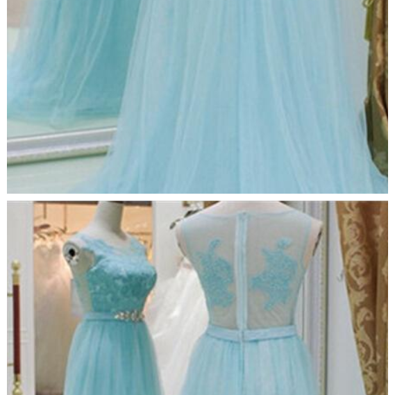 Baby Blue A Line Evening Dresses, Lace Top See Though Prom Dress,High Quality Graduation Dresses,Wedding Guest Prom Gowns, Formal Occasion Dresses,Formal Dress