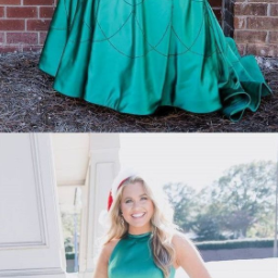 Elegant Halter Green Long Prom Dress with Sequins