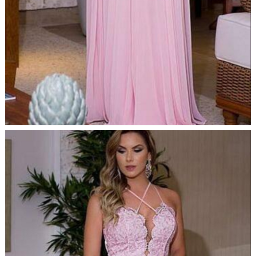 Sleeveless Pink Evening Dresses
