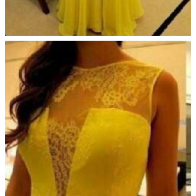 Sexy Appliques A Line Yellow Prom Dresses, Long Evening Dress, Floor Length Formal Dress
