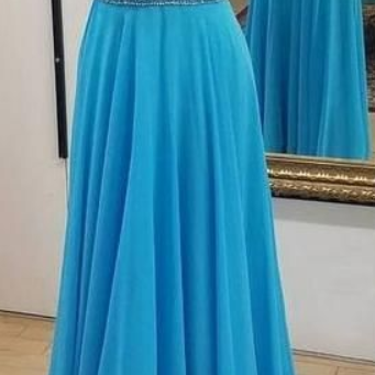 Sexy V Neck Backless Spaghetti Straps A-line Beaded Long Prom Dresses Custom-made Graduation Party Dress